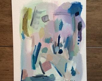 "Entropy V - 7"" x 9"" Mixed Media Abstract Painting"