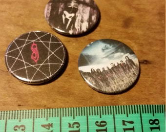 2/5cm/1 inch slipknot pin badges x3