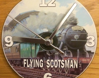 The Flying Scotsman Steam Train CD Clock (Can be Personalised)