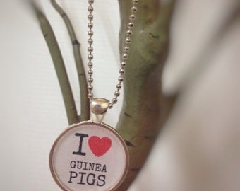 I Love Guinea Pigs necklace