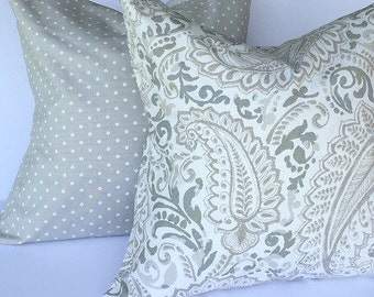 Set of two- throw pillows, accent pillows, throw pillow covers, decorative throw pillow covers, gray pillow covers, pillow covers
