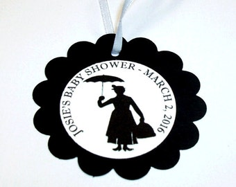 Mary Poppins Favor Tags - 1 Dozen