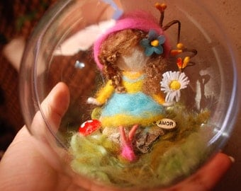 Fairy in soap bubble