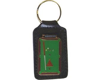 Leather Key Chain - Pool Table