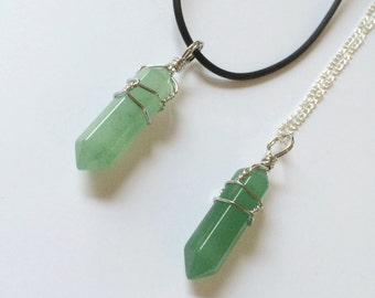 Aventurine Wire Wrapped Necklace