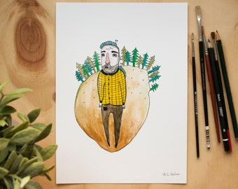Borris & His Grub Friend Print