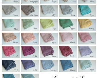 Pick 6 - Newborn Wrap Set, Newborn Photo Prop, Newborn Cheesecloth Wrap