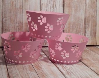 Kitty Paw Print Cupcake Wrapper