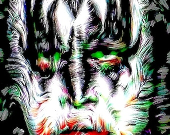 Gene Simmons Monster Abstract