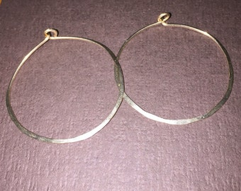Gold 1 1/4 inch hoops