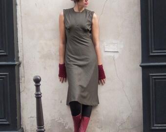 Glen Plaid Wool Dress