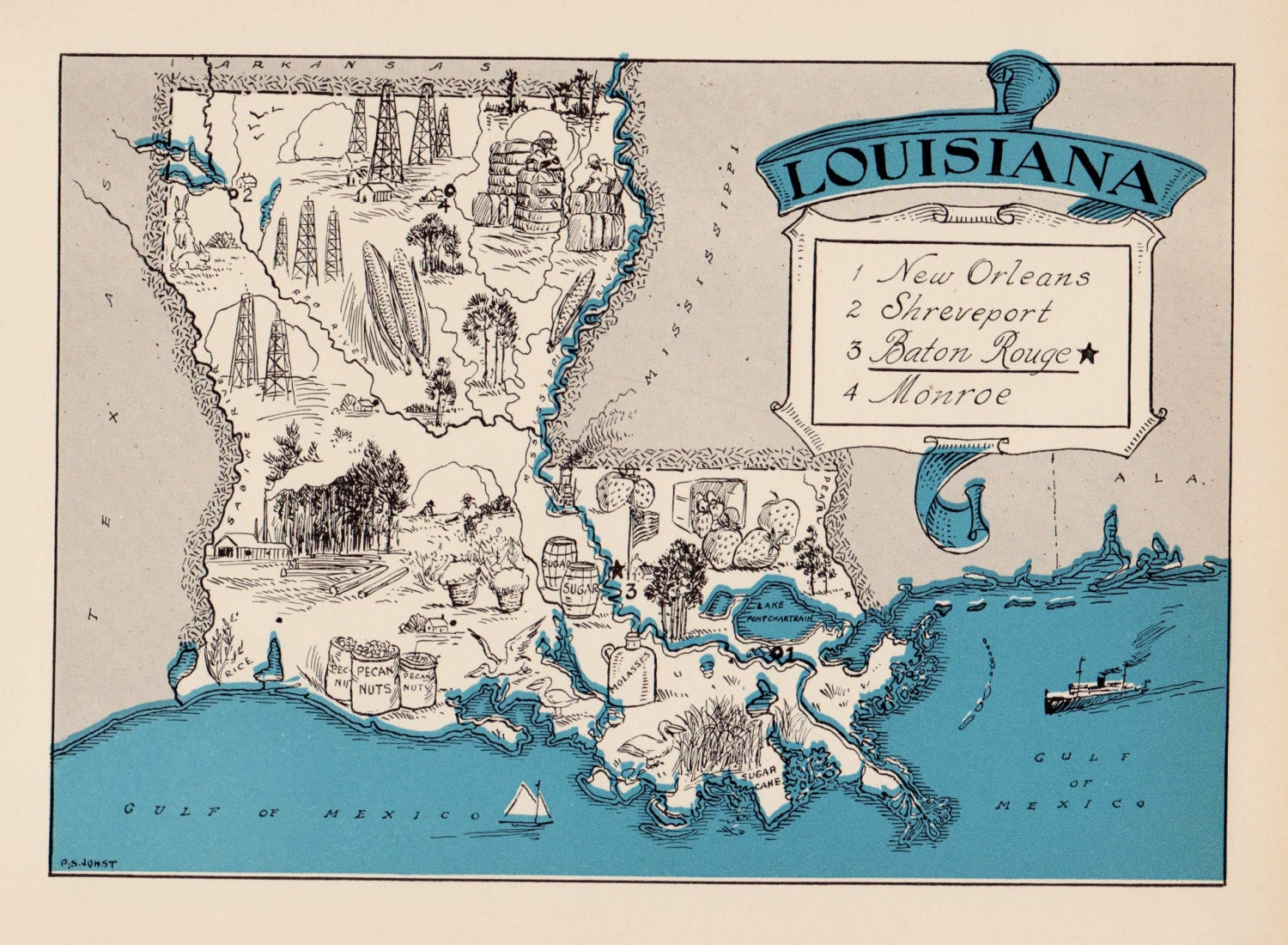 Handy image regarding printable map of louisiana