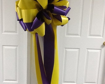 LSU purple & yellow bow