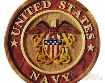 """12"""" Handcrafted Wooden Emblem WE16287"""
