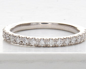 Wedding Ring, Pave Wedding Ring, Micro Pave Band, Pave Diamond Stacking Ring, Women's Wedding Ring, Anniversary Ring, Anniversary Band