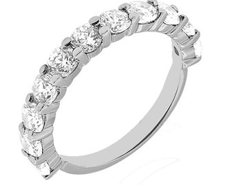 11 Stone Diamond Ring, 11 Stone Diamond Wedding Band, 11 Stone Wedding Ring, 11 Stone Diamond Wedding Band 14k White gold.