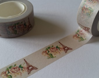 floral Eiffel Tower Washi Tape