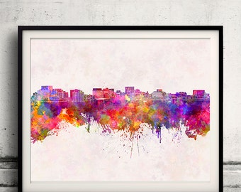 Hobart skyline in watercolor background INSTANT DOWNLOAD 8x10 inches Poster Wall art Illustration Print Art Decorative - SKU 1054