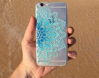 Blue Mandala iphone 6 case, iphone 6s case