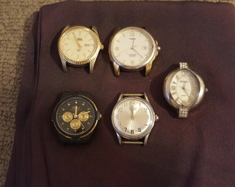 Watches various mixed lot of 5
