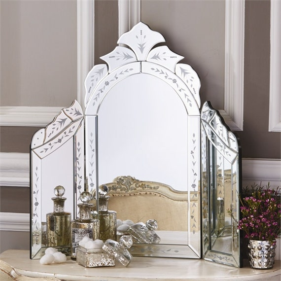 Venetian Style Dressing Table Mirror by ThistlesHomeAccents