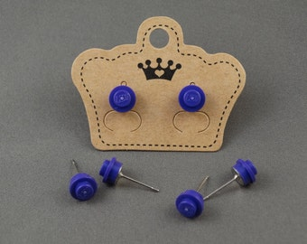 LEGO Earring Stud - Purple