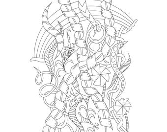 adult coloring page celebrate for stress relief relaxation creativity