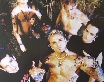 Crazy Town Group Shot Official Cloth Textile Fabric Poster Flag Tapestry Wall Banner FREE SHIPPING New!