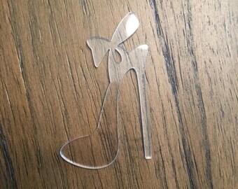Hig Heel with Bow Acrylic Blank Keychain or Charm