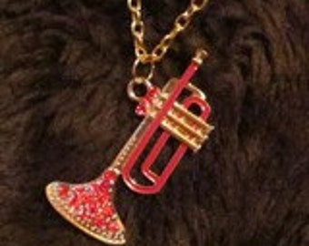 Red Trumpet Necklace