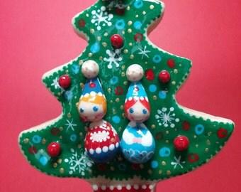 Christmas Tree... handmade bread dough Christmas ornament