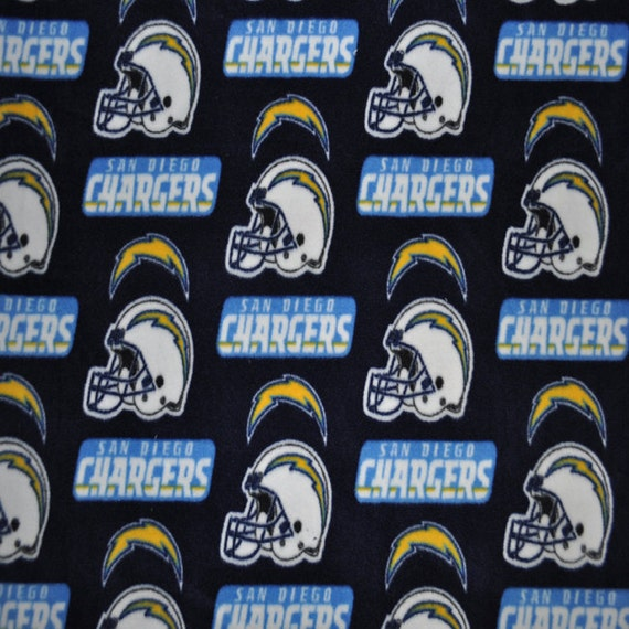 San Diego Chargers Fleece Fabric: San Diego Chargers Fleece Fabric (1&3/4 YARD PIECE) From
