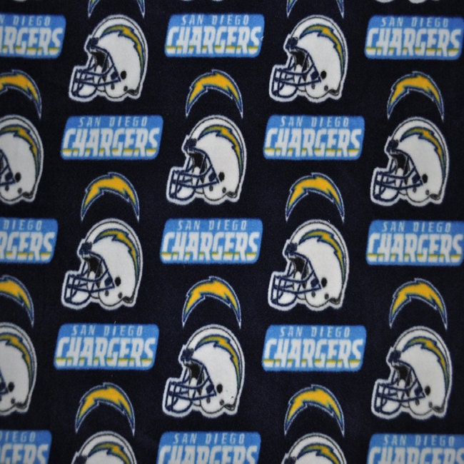San Diego Chargers Chair: San Diego Chargers Fleece Fabric (1&3/4 YARD PIECE) From