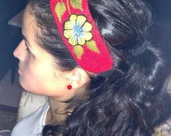 Flower Embroidery Headbands