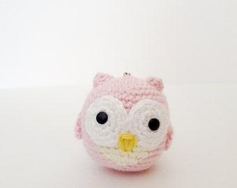 Baby Pink Owl Keychain - OWLY Amigurumi Collection
