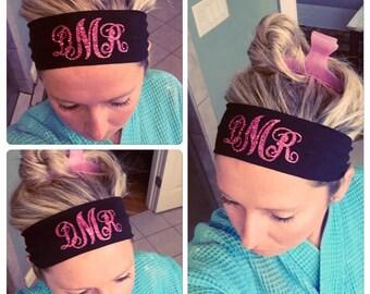 HEADBAND with Monogram. Headband. Head band. Monogram head band. Cute head band. Work out head band. Yoga. Work out. Hair. Head.