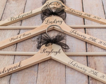 Bridal Party Hangers - Bridesmaid Hangers - Wedding Party Hangers - Wedding Dress Hanger - Bridesmaid Dress Hanger - Bridal Party Proposal