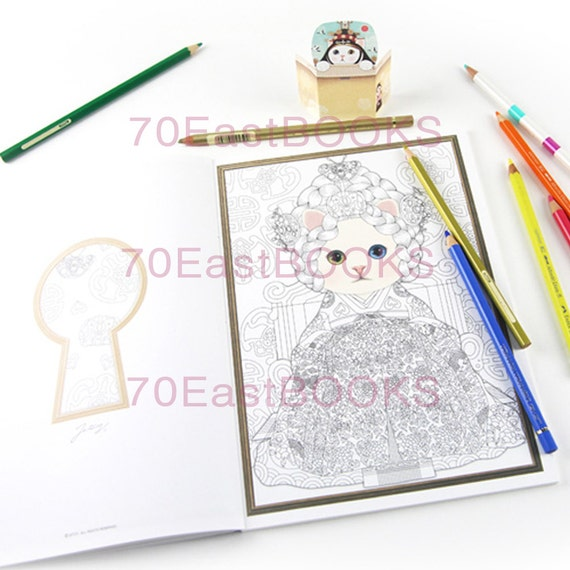 Colorful Jetoy 2 Coloring Book For Adult Cat Illustration Colouring CHOO JETOY Korea