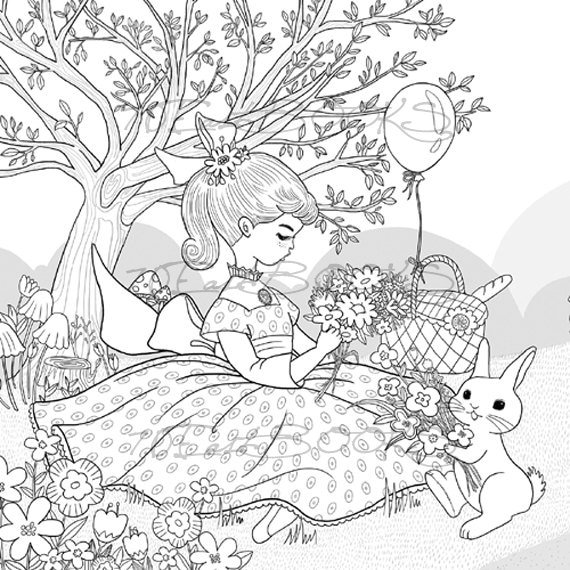 bunny coloring pages for girls - photo#33