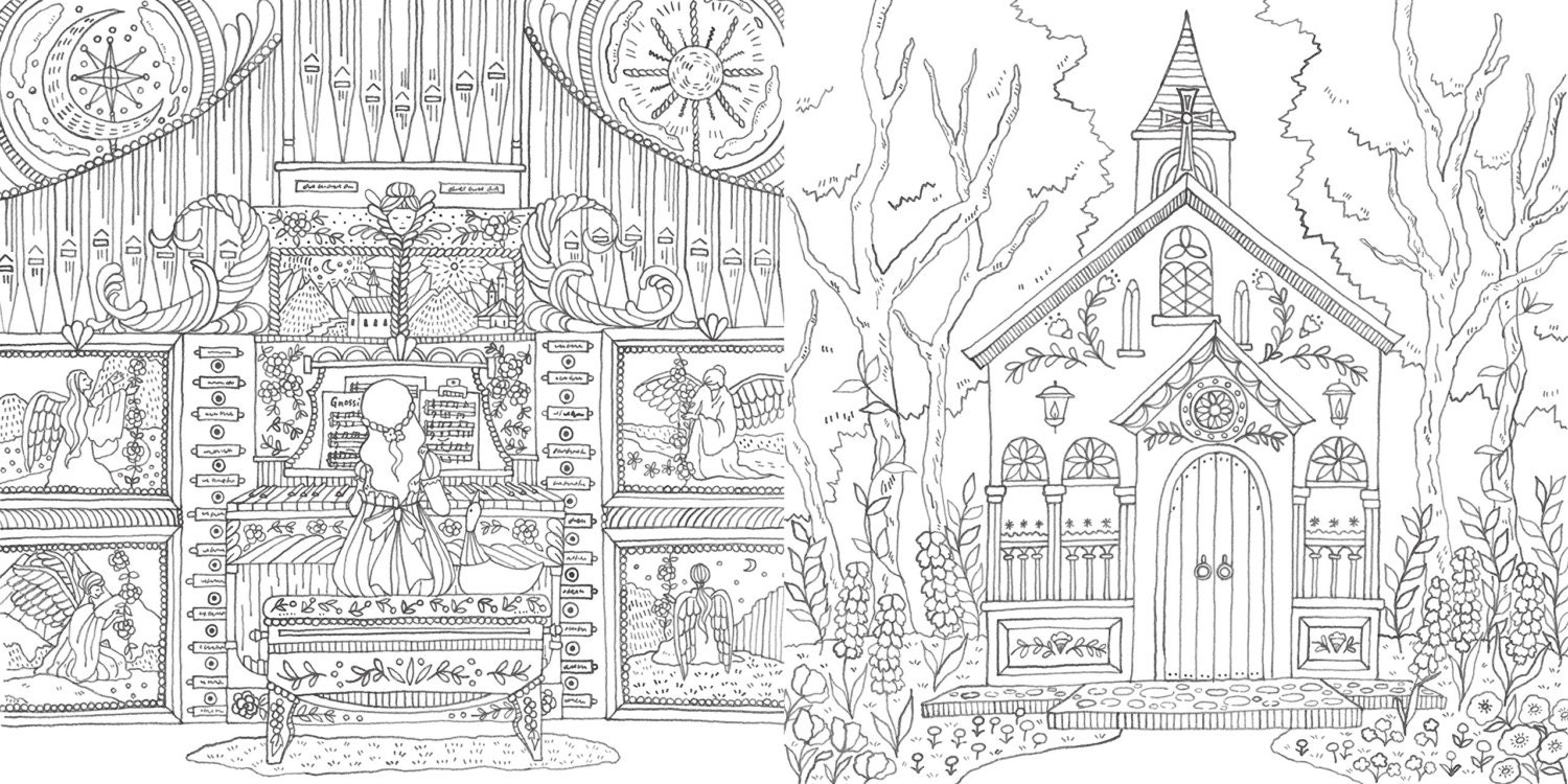 Romantic Country The Second Tale Coloring Book For Adult