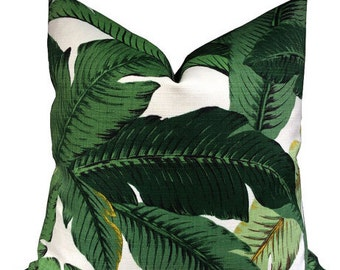 Indoor/Outdoor Tommy Bahama Swaying Palms Pillow Cover - Banana Leaf, Tropical, Resort, Palm Tree Pillow, Accent Pillow
