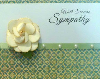 With Sincere Sympathy - Green Floral