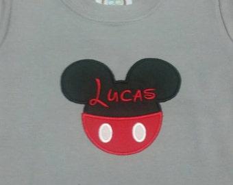 Mr Mouse Children's Appliqué Shirt