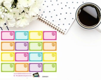 Mail Assorted Rainbow Colored 1/3 boxes for Doki Discagenda| Planner Stickers| Dokibook Discagenda| Personal Planner| DOKI021