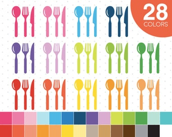 Spoon Fork Knife clipart, Spoon clipart, Fork clipart, Knife clipart, Spoon Fork Knife icon, Spoon icon, Fork icon, Knife icon CL-440