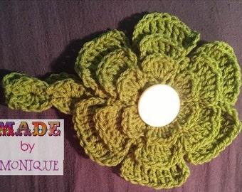 Newborn Headband with large flower
