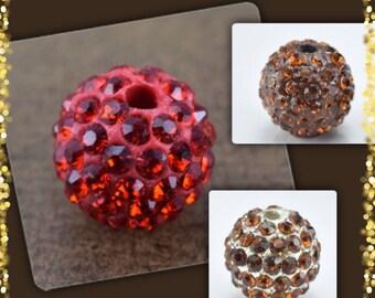 10mm  Rhinestone Shamballa Beads, Bling Beads, ball rhinestone Beads, Rhinestone Jewelry, Bracelet Beads Handmade beads, Metal beads