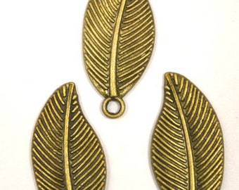 Alloy Green Antique 15mm Fall Leaf Pendant,Charms,Pendant, Jewelry Making