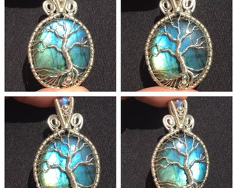 Labradorite Tree of Life in sterling silver ***MADE TO ORDER***