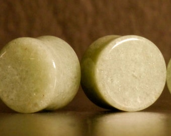 Aventurine Stone Plugs, Ear Plugs, Ear Stretchers, Ear Stretching